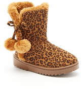 Leopard Pom Pom-Accent Emerson Boot