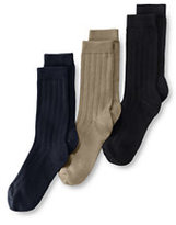 Classic Kids Cotton Ribbed Sock (3-pack)-White