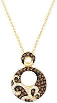 LeVian Le Vian Chocolatier® Diamond Paisley Design Pendant Necklace (1/2 ct. t.w.) in 14k Gold