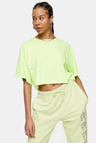 Topshop Lime Green Seam Boxy Crop Top