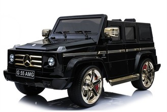Kool Karz Mercedes-Benz G55 AMG Electric Ride On Toy Car (Golden & Black Limited Edition)