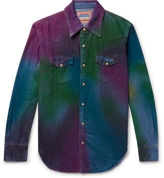 Acne Studios 2001 Tie-Dyed Denim Western-Style Shirt