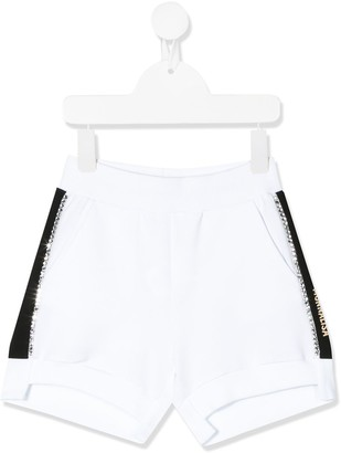 MonnaLisa Logo Side-Stripe Shorts