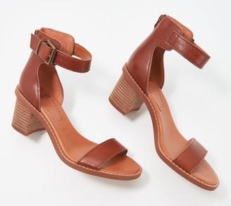 Zodiac Leather Adjustable Heeled Sandals - Ilsa