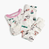 J.Crew Girls' pajama set in winter wonderland