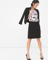 White House Black Market Ponte Button-Waist Pencil Skirt