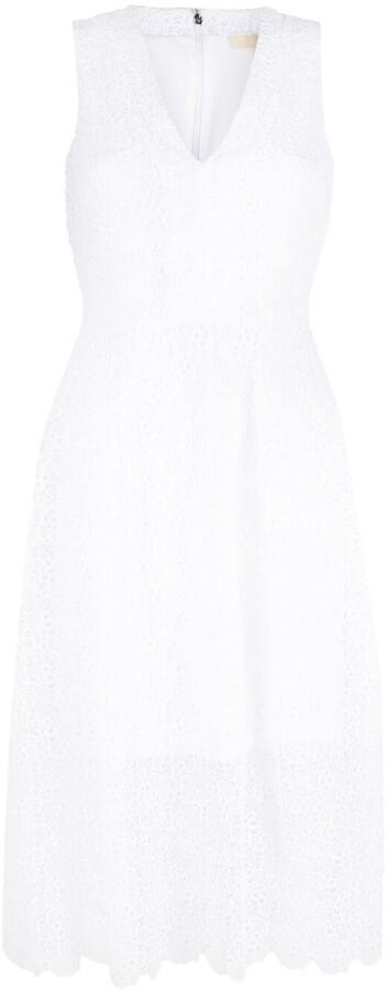 MICHAEL Michael Kors Floral-Lace Sleeveless Midi Dress