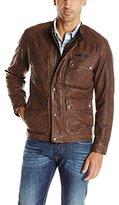 Lucky Brand Men's Manx Leather Jacket