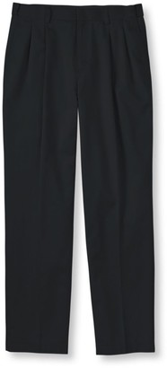 L.L. Bean Men's Wrinkle-Free Dress Chinos, Natural Fit Hidden Comfort Pleated