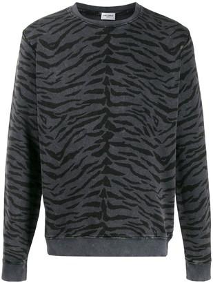 Saint Laurent animal print sweatshirt