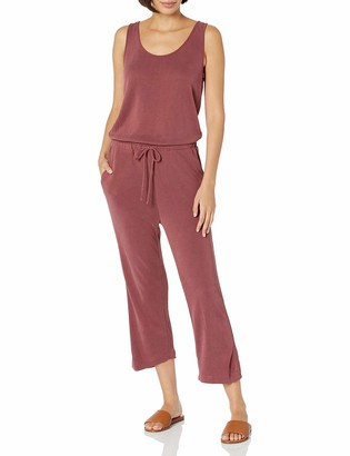 Daily Ritual Sandwashed Modal Blend Sleeveless Wide-Leg Cropped Jumpsuit