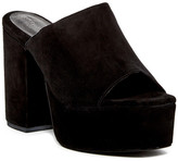 Jeffrey Campbell Pilar Suede Platform Mule Sandal