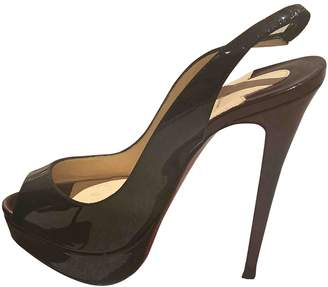 Christian Louboutin Very Prive Black Leather Heels