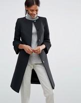 Helene Berman Coat With Fluted Sleeves in Black