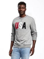 "Old Navy ""USA"" Patch Fleece Sweatshirt for Men"