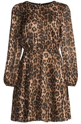 Milly Elma Leopard-Print Mini Dress