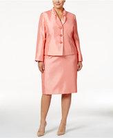 Le Suit Plus Size Shimmer Skirt Suit