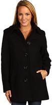 MICHAEL Michael Kors Wool Coat w/ Knit Collar