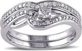 JCPenney MODERN BRIDE 1/3 CT. T.W. Diamond 10K White Gold Bridal Ring Set