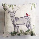 Pier 1 Imports Embroidered Stag Pillow