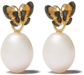 Annoushka 18kt gold diamond butterfly earrings