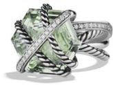David Yurman Cable Wrap Ring with Prasiolite and Diamonds