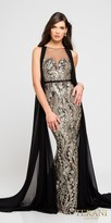 Terani Couture Cathedral Sleeveless Embroidered Illusion Evening Dress