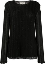Saint Laurent sequin-embellished layered jumper
