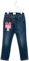 Fendi appliqued jeans