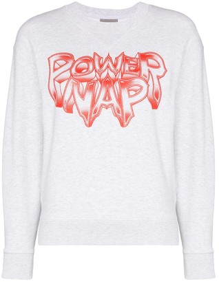 Ashley Williams Power Nap print sweatshirt