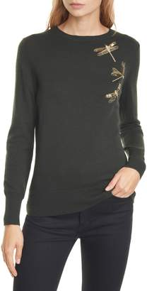 Ted Baker Nelina Sugarplum Dragonfly Wool & Cashmere Blend Sweater