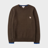 Paul Smith Boys' 7+ Years Khaki Wool-Cotton Zebra Logo Sweater