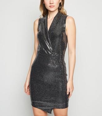 New Look Sequin Tuxedo Dress