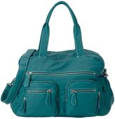 OiOi Faux Buffalo Carry-All Diaper Bag in Turquoise