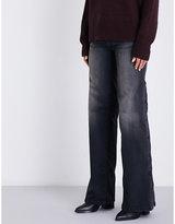 Nili Lotan Popper-side flared mid-rise jeans