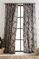 Anthropologie Embroidered Berea Curtain