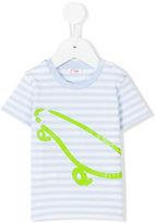 Il Gufo skateboard and striped print T-shirt - kids - Cotton/Spandex/Elastane - 12 mth