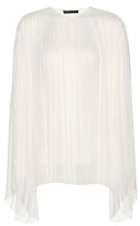 The Row Pel pleated silk top