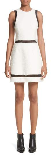 Alexander Wang Chain Mail Trim Tweed Dress