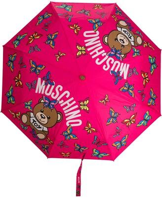 Moschino Butterfly Logo Print Umbrella
