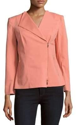 Lafayette 148 New York Sienna Front-Zip Jacket