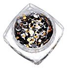 Mandystore Mixed Round Thin Nail Art Glitter Paillette Tip Gel Polish Decoration (I)