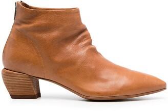 Officine Creative Zip-Up Leather Ankle Boots