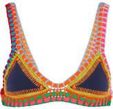 Kiini Tasmin Crochet-trimmed Triangle Bikini Top