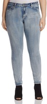 Junarose Slim Leg Jeans in Medium Blue Denim