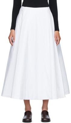 The Row White Jaco Skirt