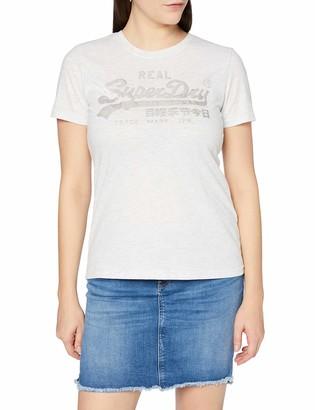 Superdry Women's Vl Tonal Satin Tee T-Shirt