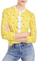 J.Crew Women's Jackie Lemon Print Cardigan
