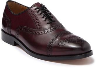 Cole Haan Kneeland Leather Brogue Cap Toe Oxford