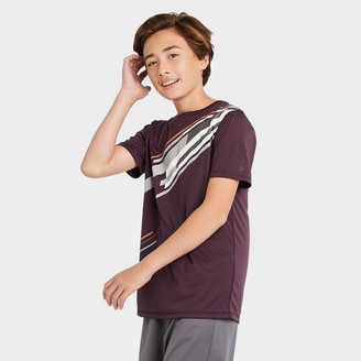 Boys' Short Sleeve Striped Graphic T-Shirt - All in MotionTM